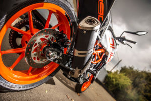 KTM 390 Duke exhaust